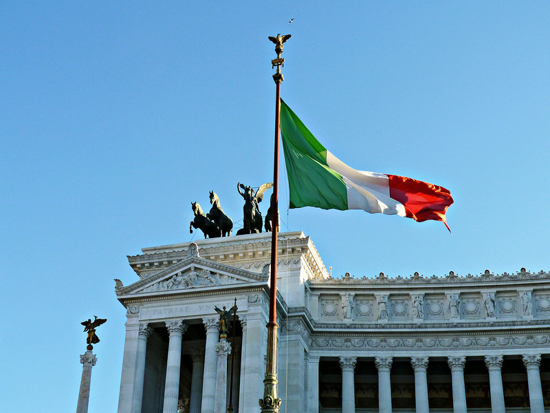 The Monument to Victor Emmanuel II was inaugurated in 1991 on the 50th anniversary of Italian unification.