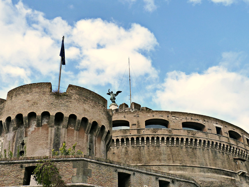 Castel Sant'Angelo - the mausoleum of Roman Emperor Hadrian (139 AD).