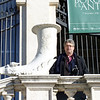 Rustem on the steps of the Borghese Gallery.