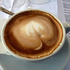A cappuccino while reviewing my notes before heading to the Colosseum.