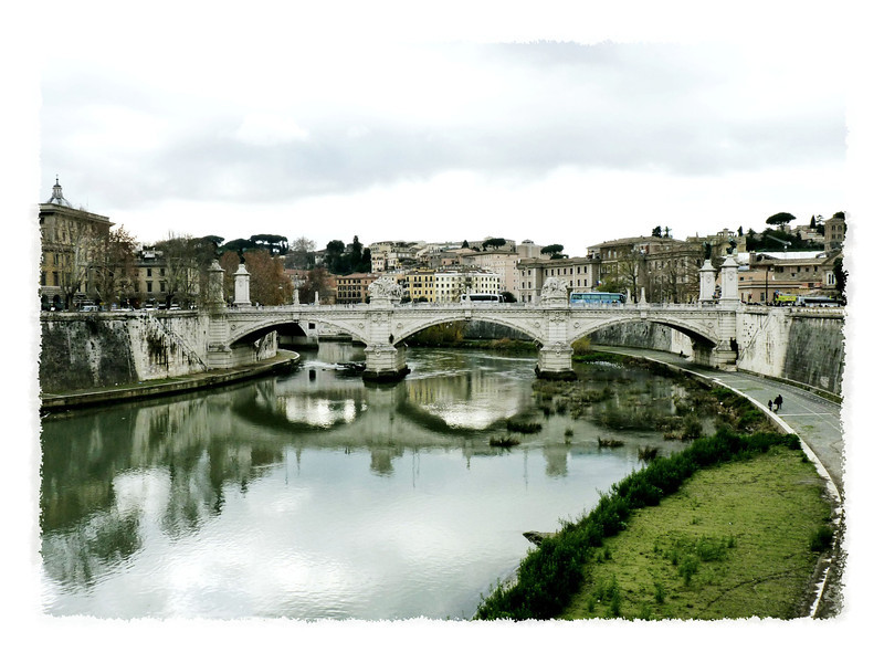 Ponte Sant'Angelo built by Hadrian in 134 AD.