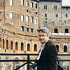 Rustem in front of the remains of Trajan's market.