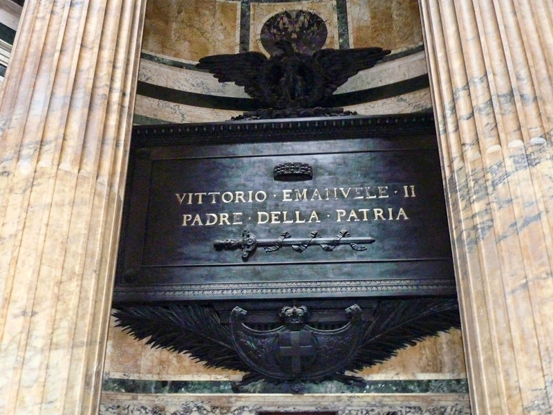 Tomb of Vittorio Emanuele II, first king of unified Italy.