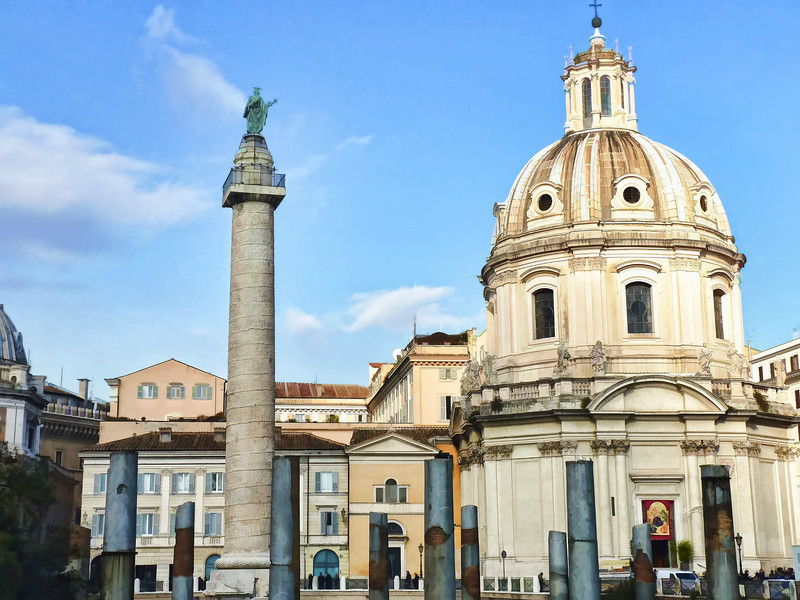 The Church of Holy Name of Mary (1683) & Trajan's Column.