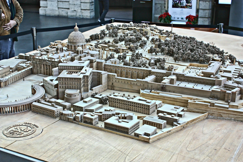 Vatican city layout.