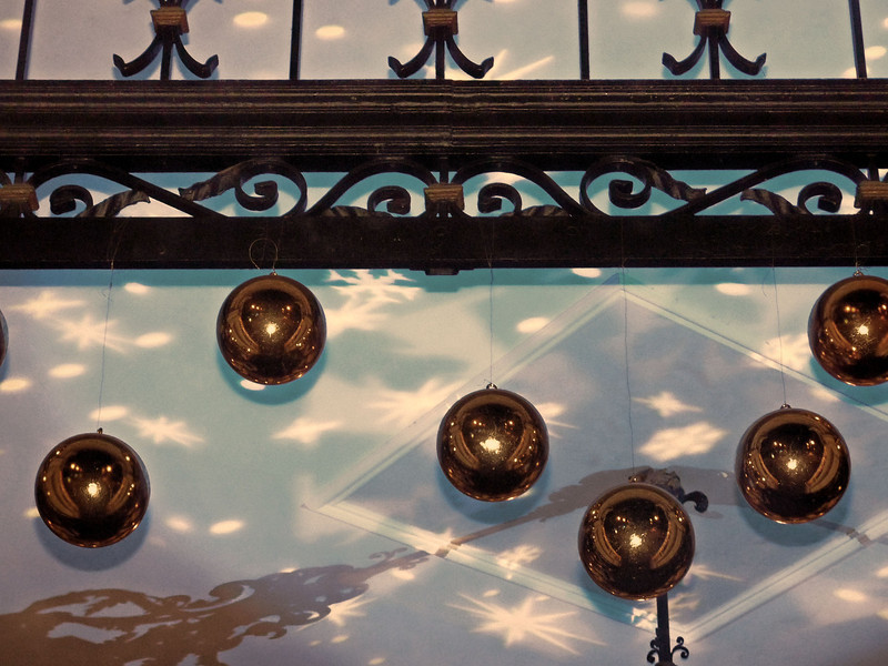 Christmas lights & balls at the Westin Excelsior.