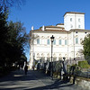 Approaching the Villa Borghese Pinciana.