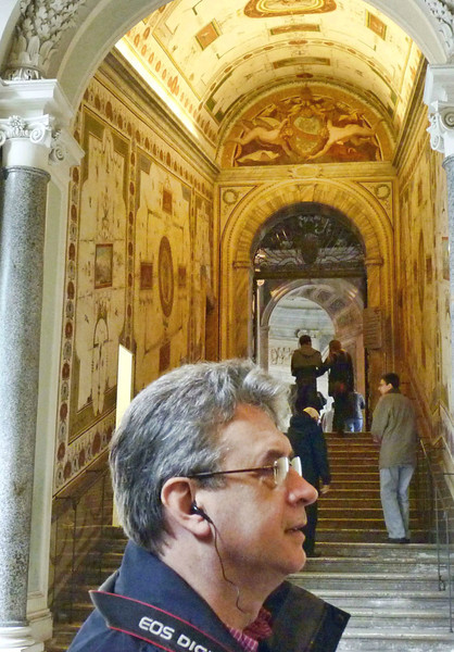 Rustem listening to our guide in the Vatican.