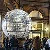 This wonderful snowball with a Christmas tree in it was in the Galleria Alberto Sordi.