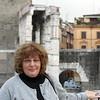 Susan at the ruins of Trajan's Forum.
