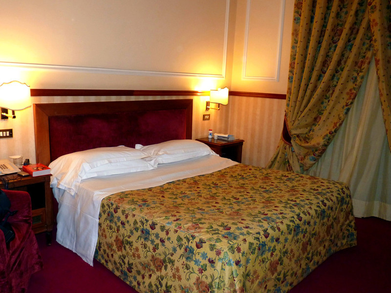 Our room at the Savoy - very tiny with a hard mattress & the most pathetic pillows ever!
