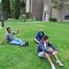 Sanjev, Neerav, & Chris... lounging on the grass.