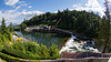 View from our room at Salish Lodge, with a fisheye lens. Shame about the construction across the river.