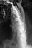 Snoqualmie Falls, black-and-white treatment.
