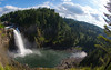 Snoqualmie Falls with fisheye lens.