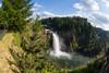 Salish Lodge and Snoqualmie Falls, with fisheye lens.