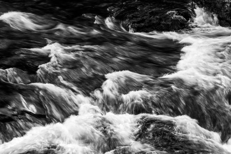 Water churning outside the window of our room. Long exposure using a neutral density filter.
