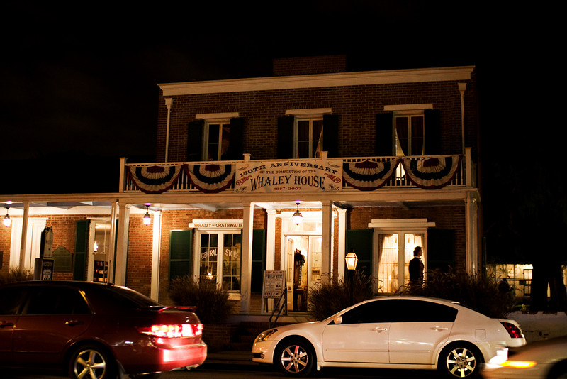 The haunted Whaley House.