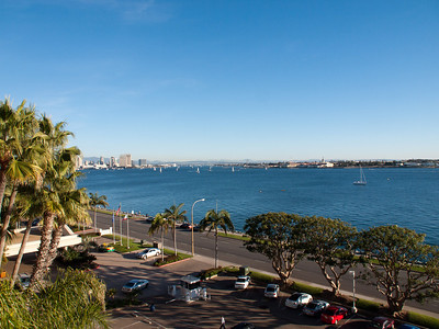 View from our room at the Sheraton San Diego Hotel & Marina