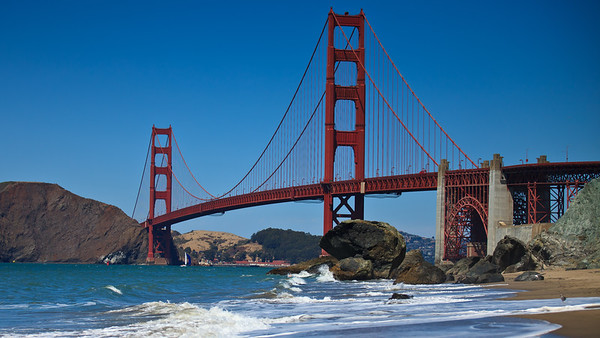 Golden Gate Bridge from the west