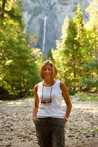Melinda with the Vernal Fall in the background