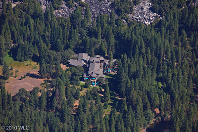 Yosemite Vally Floor and Ahwahnee Hotel as shot from Glaicer Point