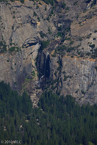 Lower Yosemite Falls as shot from Glaicer Point