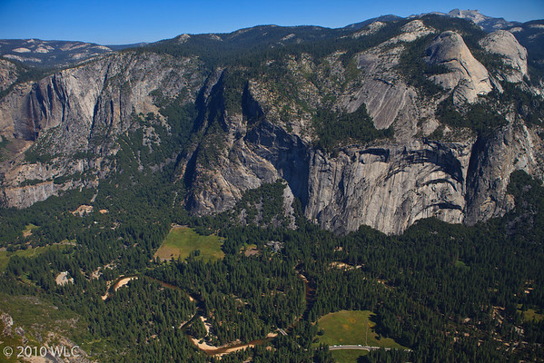 Yosemite Vally Floor as shot from Glaicer Point