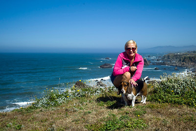 Autumn and Suki on Highway 1