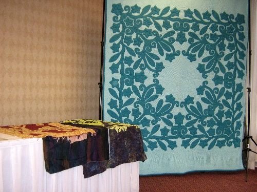 Day 4 Trunk show by Pacific Rim Quilt Company before setting off