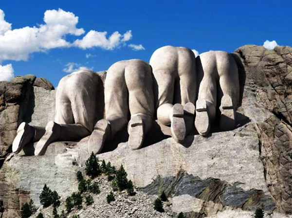 BACKSIDE OF MT RUSHMORE