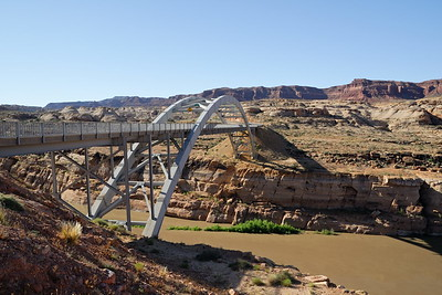 Hite Crossing bridge above the Colorado River