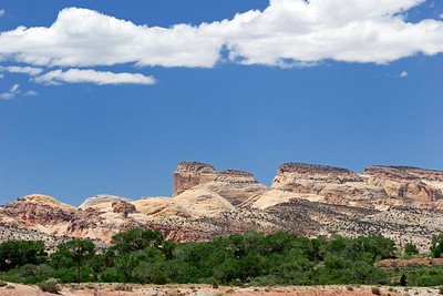 The domes of Capitol Reef - The Golden Throne in the center