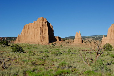 Monoliths in Upper Cathedral Valley