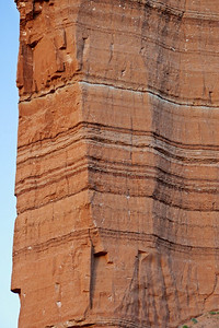 Close up of the layers of Entrada Sandstone