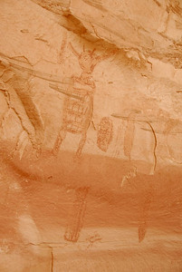 Most of the pictographs here were outlines compared to the solid shapes at the other galleries.