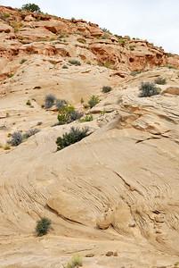 Terraced rock