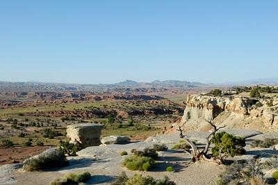 Sandstone bench above Salt Wash Valley