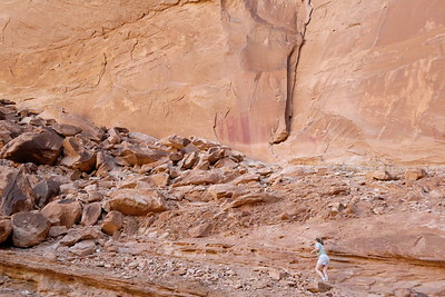 Ascending to the pictographs
