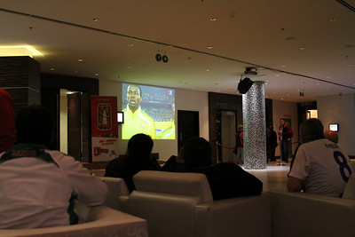 Uruguary vs South Africa from hotel lobby