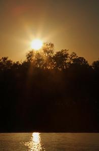 Sunrise over pool in MalaMala