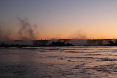 Mist from Victoria Falls