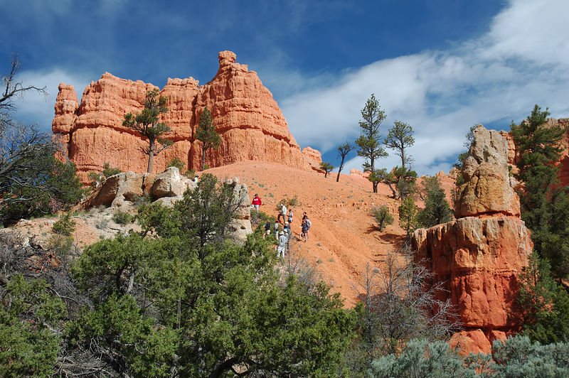 "<a href=""http://www.zionnational-park.com/red-canyon-utah.htm"" target=""_blank"">Red Canyon</a> near the western end of Scenic Byway 12"
