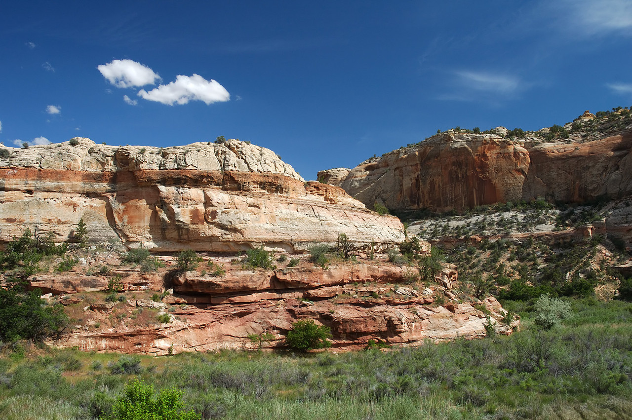 Scenry on the trail to Lower Calf Creek Falls