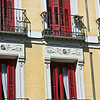 Madrid balconies & shutters.