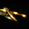 Castillo de Santa Bárbara from our balcony at night.