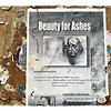 Beauty for Ashes. Old gallery notice posted on a wall in Toledo.