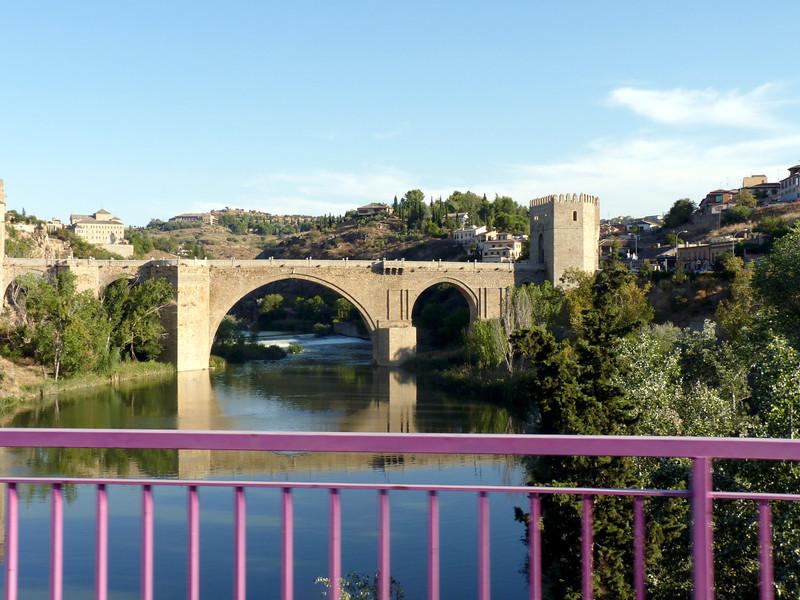The 14th century Saint Martin's Bridge spanning the Tagus River.