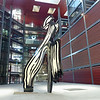 Contemporary sculpture in the courtyard of the Reina Sofia.
