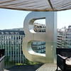 """B"" on the B Hotel rooftop."